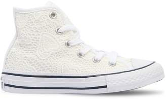 Converse Lace & Canvas High Top Sneakers