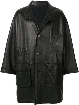 Issey Miyake Pre-Owned 1980's Sport Line reversible leather coat
