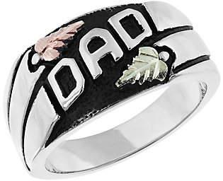 Black Hills Men's Dad Ring, Sterling/12K Gold