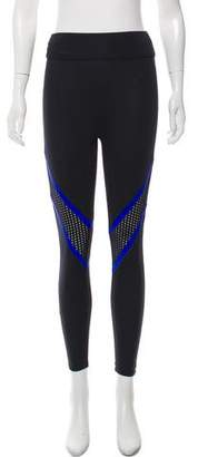 Prabal Gurung Sport Patterned Mid-Rise Legging