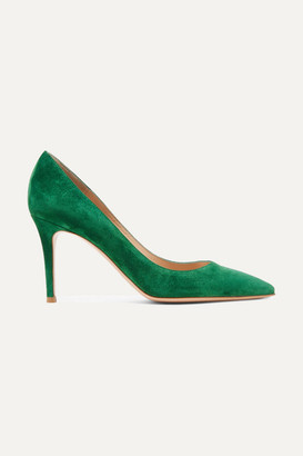 Gianvito Rossi 85 Suede Pumps - Green