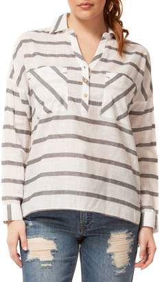 Dex Striped Cotton Top