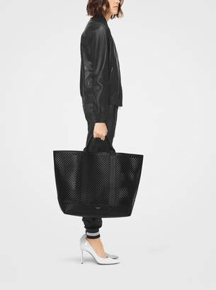 Michael Kors Georgica Oversized Perforated Leather Tote