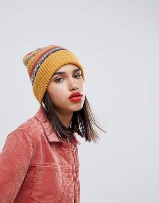 Asos DESIGN fairisle wool mix knit beanie