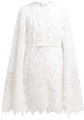Giambattista Valli Bow Embellished Guipure Lace Cotton Blend Coat - Womens - Ivory