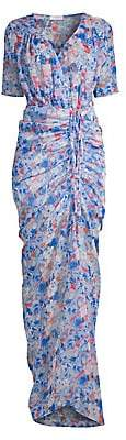 Eywasouls Malibu Women's Elke Ruched Floral Maxi Dress