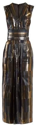 Carl Kapp - Aerosphere Sleeveless Jacquard Dress - Womens - Gold Multi