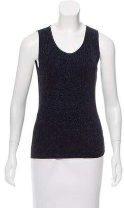 Armani Collezioni Metallic Sleeveless Top