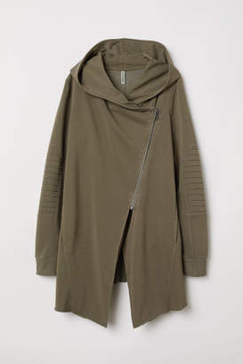 H&M Hooded Sweatshirt Cardigan - Green