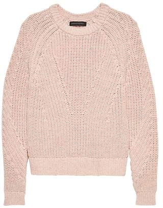 Banana Republic Chunky Cotton Crew-Neck Sweater