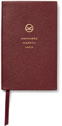 Smythson Kingsman - + Panama Cross-grain Leather Notebook - Burgundy