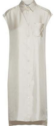 Maison Margiela Silk-Faille Shirt Dress