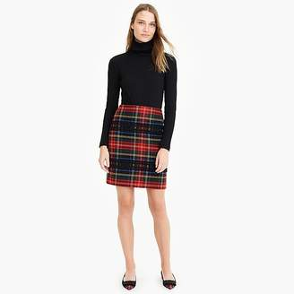 J.Crew Mini skirt in Lurex® Stewart tartan