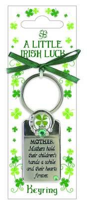 Co Shamrock Gift Carrolls Irish Gifts Little Irish Luck Keyring Mum Saying