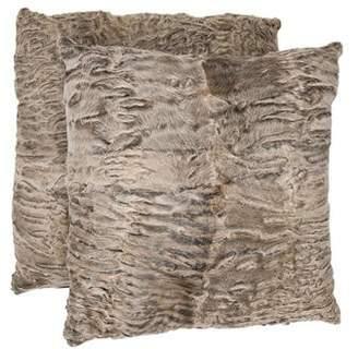 Oscar de la Renta Pair of Fur Throw Pillows