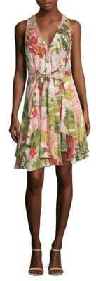 Josie Natori Paradise Floral Sleeveless Dress