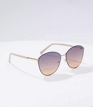 LOFT Round Cateye Sunglasses