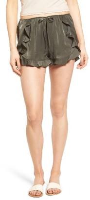 Women's Soprano Ruffle Satin Shorts $39 thestylecure.com