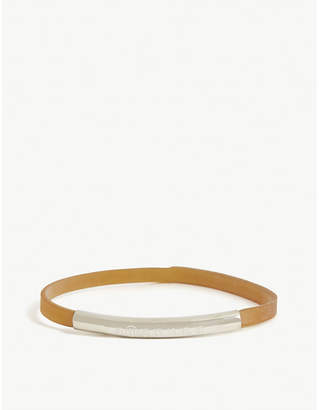Maison Margiela Argento silver rubber band bracelet