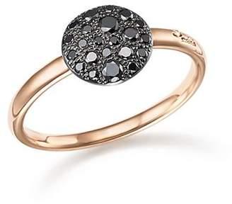 Pomellato Sabbia Ring with Black Diamonds in Burnished 18K Rose Gold