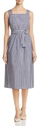 Lafayette 148 New York Armilla Mixed-Stripe Belted Dress - 100% Exclusive