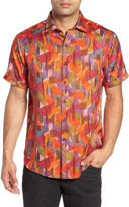 Robert Graham Gallagher Classic Fit Silk Blend Sport Shirt