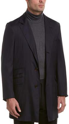 Brunello Cucinelli Wool & Silk-Blend Overcoat
