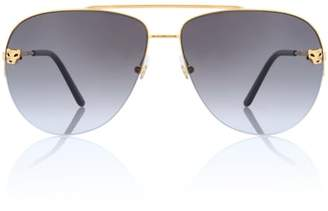 fdb7dd149b9 at mytheresa · Cartier Eyewear Collection Panthère de aviator sunglasses