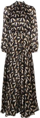 Milly leopard print long dress