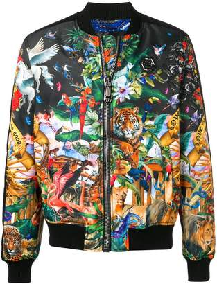 Philipp Plein jungle print bomber jacket