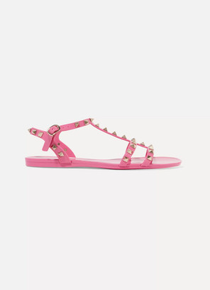 Valentino Garavani The Rockstud Rubber Sandals - Baby pink