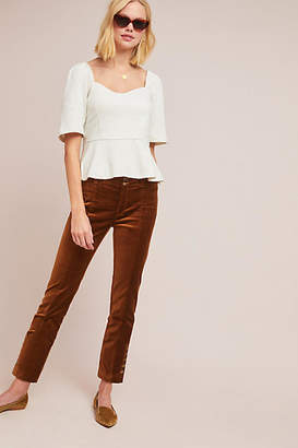 Anthropologie Essentials by The Essential Velvet Slim Trousers