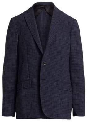 Saks Fifth Avenue COLLECTION Seersucker Plaid Two-Button Blazer