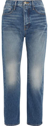 Frame Le Original Cropped High-rise Straight-leg Jeans - Blue