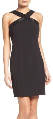 Women's Laundry By Shelli Segal Beaded Sheath Dress $195 thestylecure.com