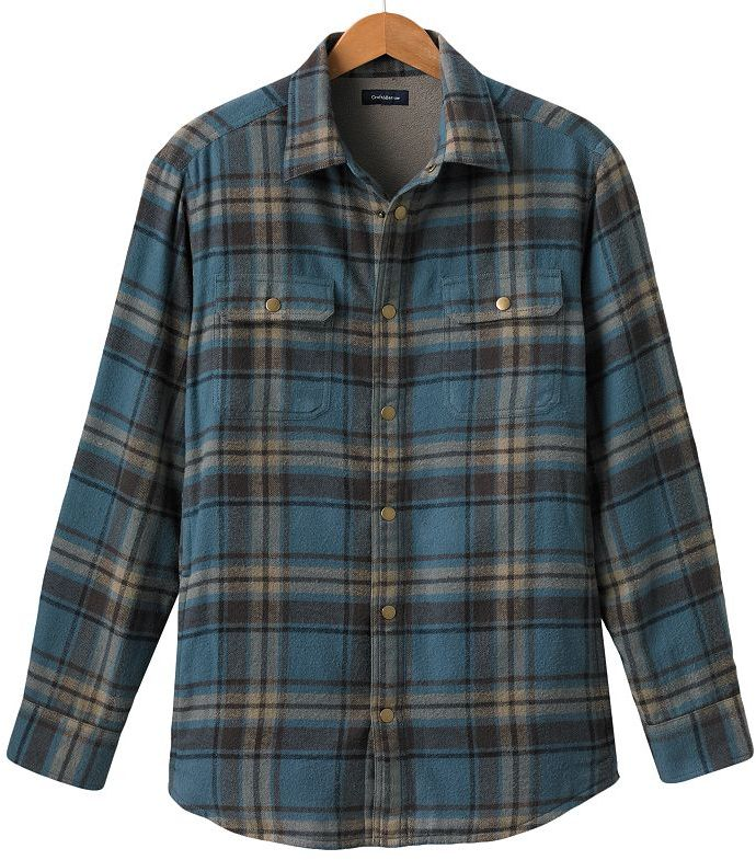 Croft and barrow plaid flannel shirt jacket - men