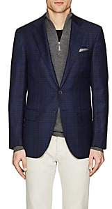 Isaia Men's Sanita Plaid Wool Two-Button Sportcoat-Navy