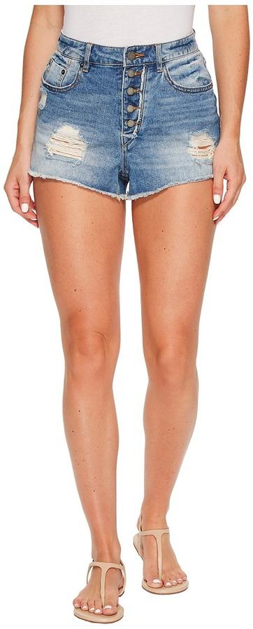 Roxy - Across The Sun High Waisted Denim Short Women's Shorts
