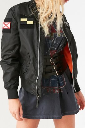 Alpha Industries L-2B Patched Bomber Jacket $150 thestylecure.com