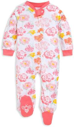 Burt's Bees Rose Floral Watercolor Organic Baby Sleep & Play Pajamas