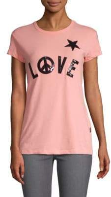 Love Moschino Sequin Short-Sleeve Top