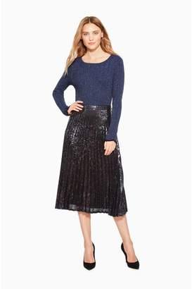 Parker Citrine Sequined Skirt