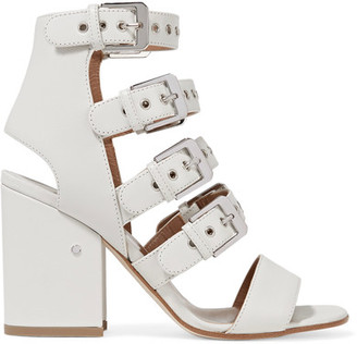 Laurence Dacade - Kloe Buckled Leather Sandals - White $970 thestylecure.com