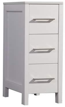 "MTD Vanities Argentina 12"" Bathroom Storage Linen Cabinet, White"