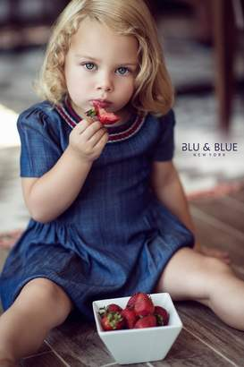 Blu & Blue Tencel Embroidered Collar Dress