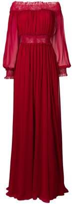 Giambattista Valli off shoulder ruched gown