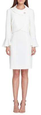Tahari Arthur S. Levine Envelope Neckline Dress Suit