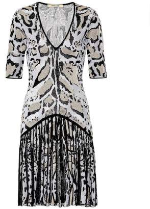 Roberto Cavalli Metallic printed dress
