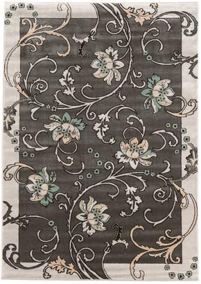 Linon Elegance Flowers Rug