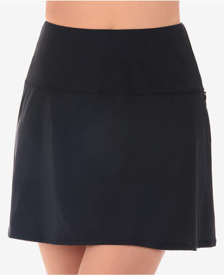 Miraclesuit Solid Basic Tummy-Control Fit & Flare Swim Skirt Women Swimsuit